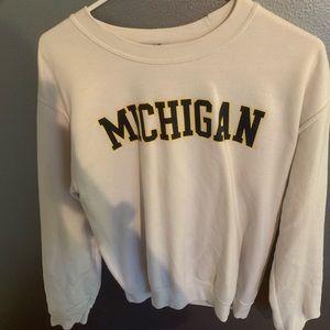 Tops - michigan crew neck sweatshirt